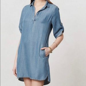 Anthropologie Cloth & Stone Arcata Chambray Tunic